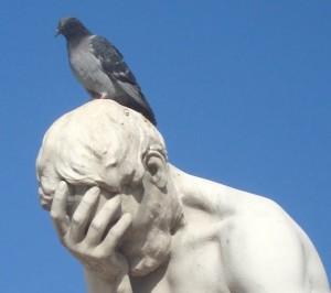 pigeon-statue
