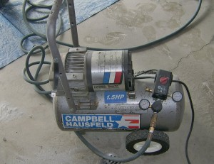 This Campbell Hausfeld air compressor was a Craigslist find