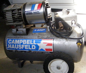 1.5 HP Campbell Hausfeld air compressor