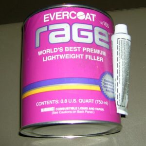 Evercoat Rage body filler for tank repairs